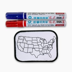 USA Map Patch & Markers