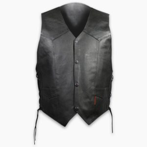 Leather Side Tie Vest